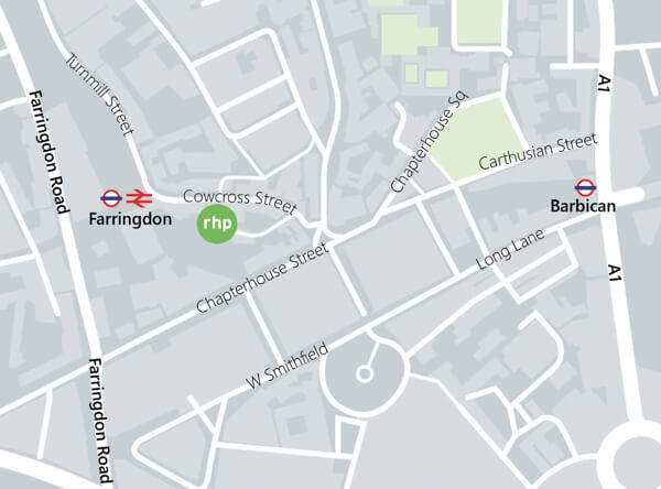 A map of the location of our Brighton office