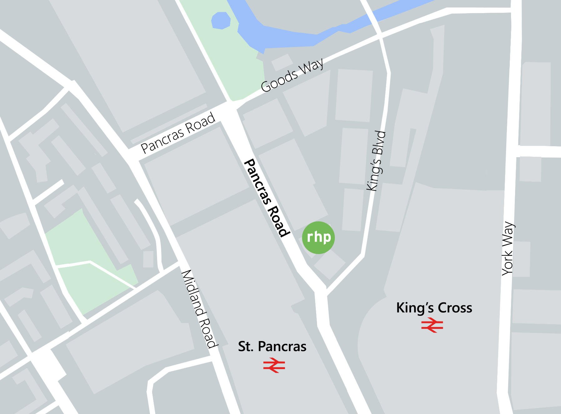 A map of the location of our London office