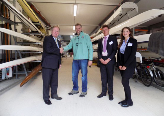Olympic Gold Medallist Steve Trapmore opens The Leys School's Boathouse