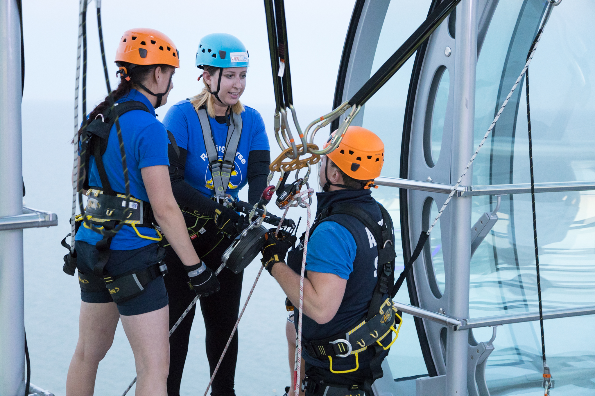 Colette abseils the i360 for Rockinghorse children's charity