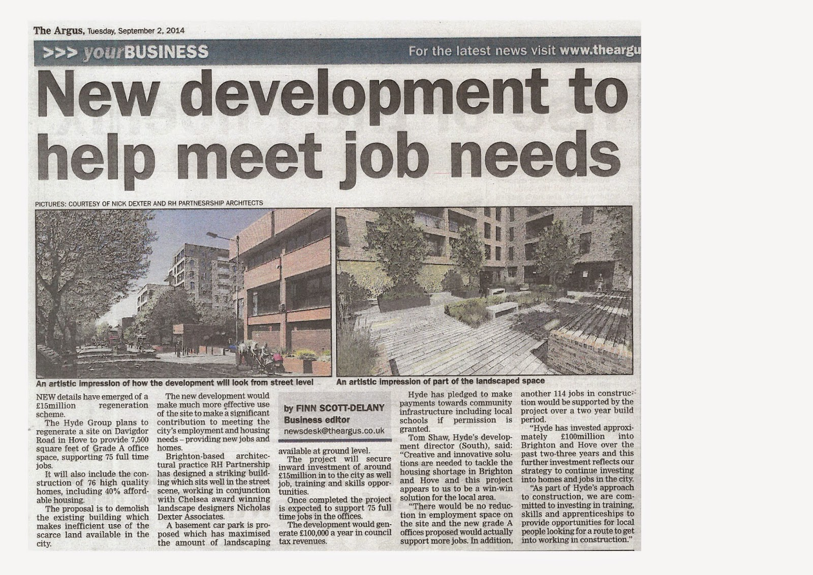 Hyde Group proposals help meet job needs