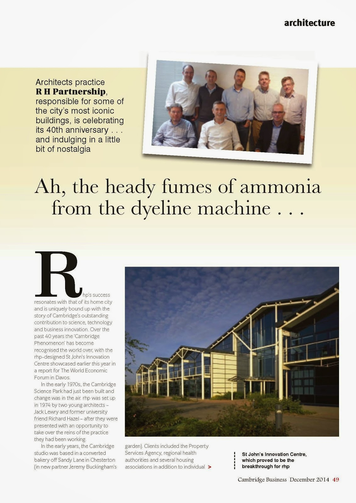 Cambridge Business Magazine Celebrates 40 Years of rhp