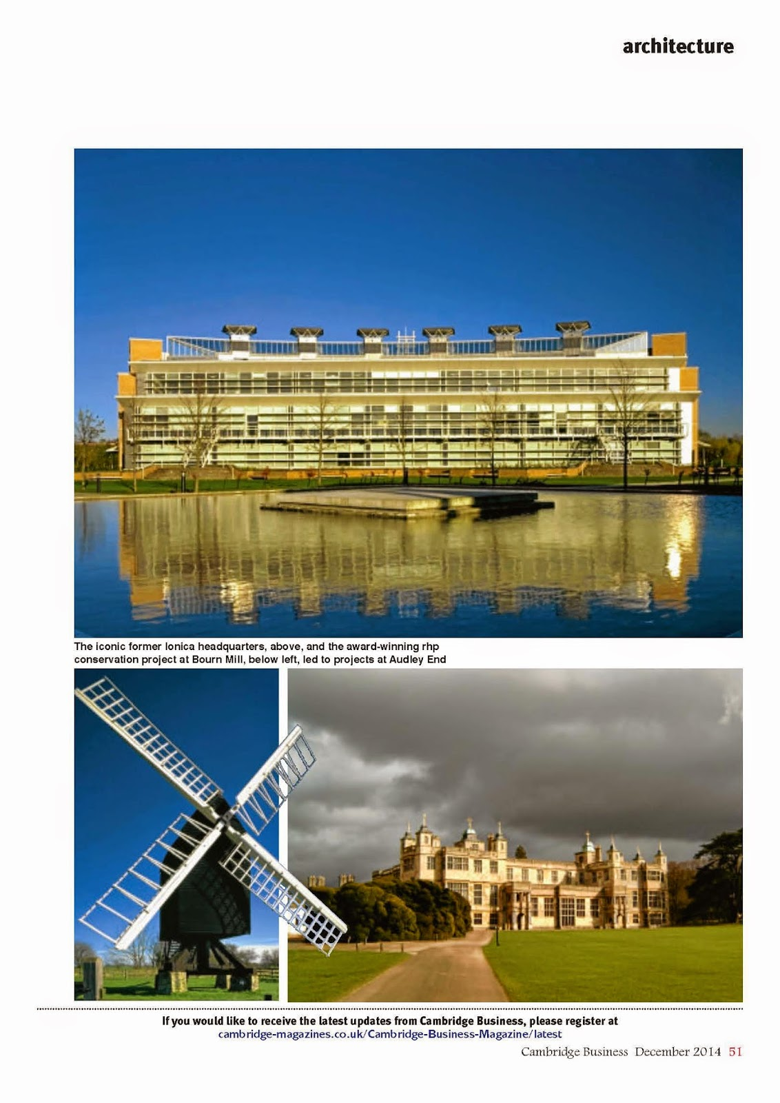 Cambridge Business Magazine Celebrates 40 Years of rhp