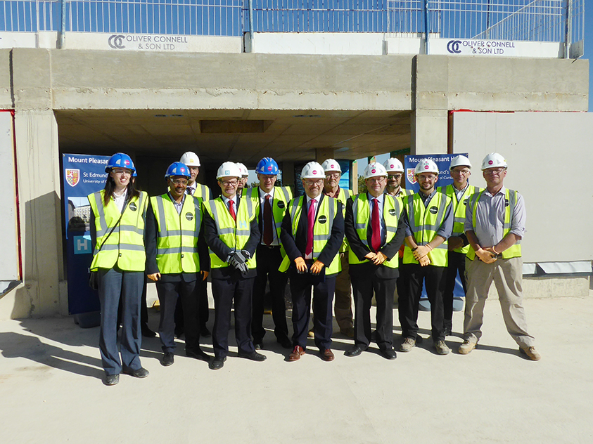 A Pleasant Day for Topping Out