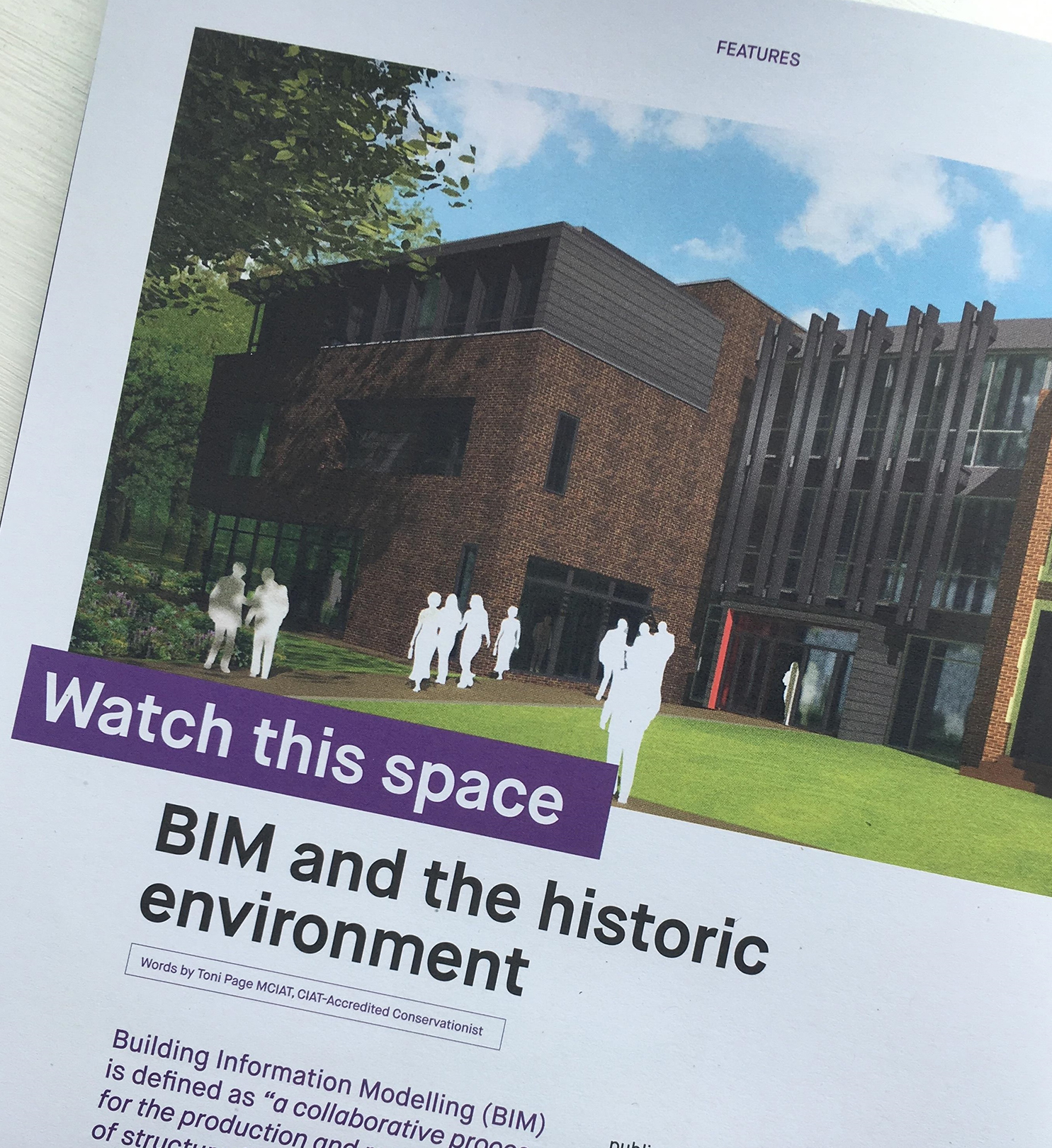 CIAT Publishes BIM Article by Toni Page