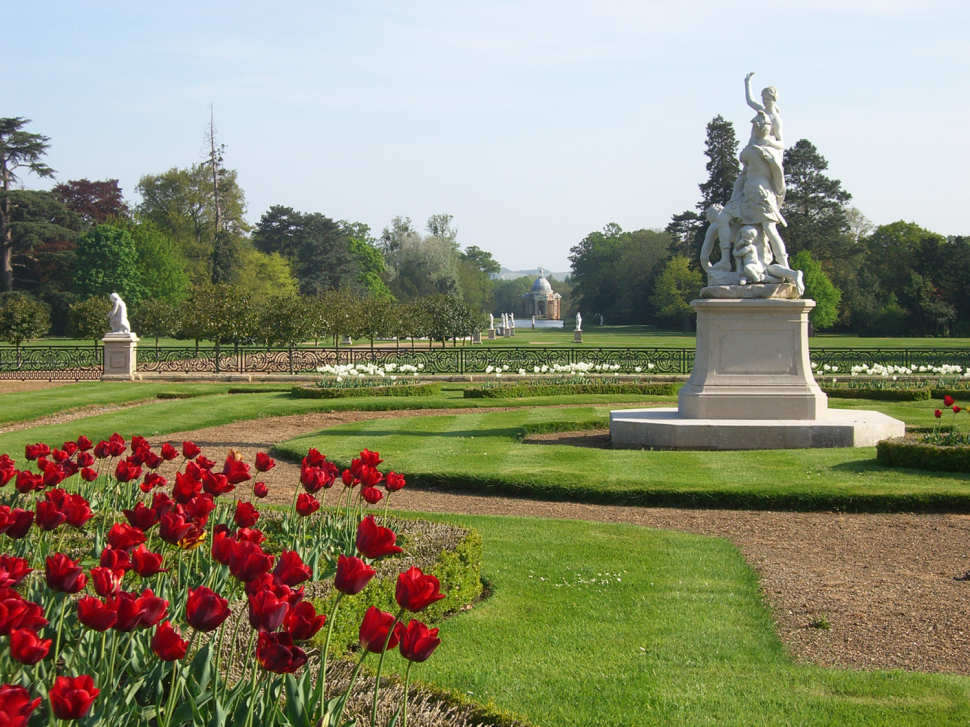 The Parterre Garden sculpture groups cleaned and conserved 2008.
