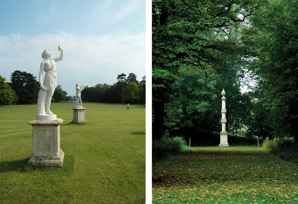 Great garden statuary cleaned and conserved 2008. Capability Brown column conserved and re-erected 2004.
